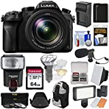 Cheap Panasonic Lumix DMC-FZ2500 4K Wi-Fi Digital Camera with 64GB Card + Battery & Charger + Backpack + Flash + Soft Box + LED Light + Mic + Kit