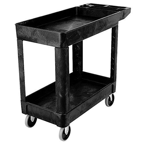 Rubbermaid FG450089BLA Utility Cart, Lipped Shelf