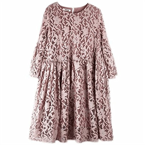 ZH Vestido 2018 primavera y verano mujeres embarazadas cubrir el vientre era faldas gordas delgadas falda carne por edad: Amazon.es: Deportes y aire libre