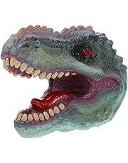 FOMIYES Dinosaurus Speelgoed Handpop Zachte Rubber Dino Figuren Keizer Tyrannosaurus Hoofd Handschoen Dier Puppets Beweegbare Open Mond Puppets Geschenken voor Kinderen Rollenspel
