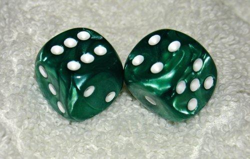 【人気商品】 Green B01MST9SIU Marbled Pair Dice Pair Marbled B01MST9SIU, 赤池町:fc53465b --- arianechie.dominiotemporario.com