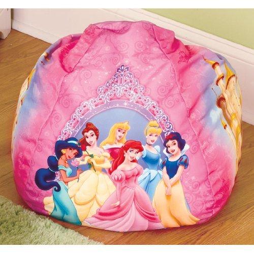 amazon com disney princess small bean bag chairs childrens bean