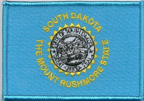 State Flag Patch 100% Embroidered Patch - Iron-on or Sew-on
