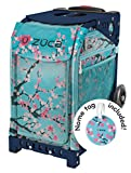 Zuca Hanami Sport Insert Bag and Navy Blue Frame with Flashing Wheels