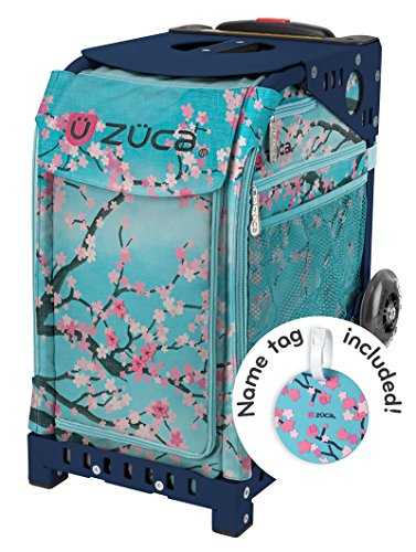 Zuca Hanami Sport Insert Bag and Navy Blue Frame with Flashing Wheels by ZUCA