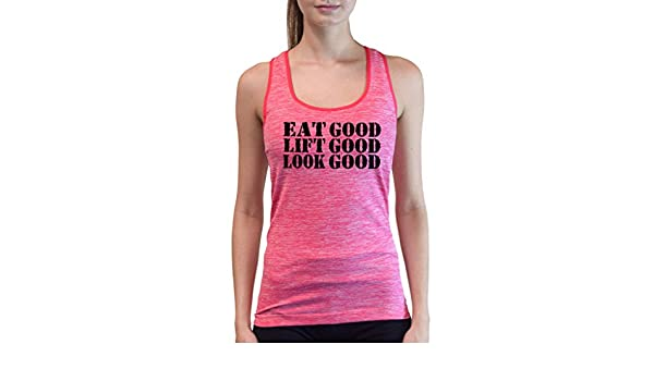 Juniors Eat Lift Sleep Repeat V279 Grey Space Dyed Racerback Tank Top