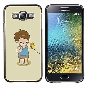 Stuss Case / Funda Carcasa protectora - Cabrito que juega lindo Niño Bebé Madre - Samsung Galaxy E5 E500