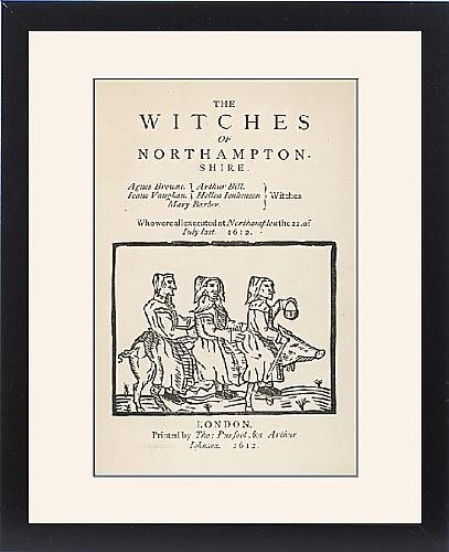 Framed Print Of Northamptonshire Witches by Prints Prints Prints