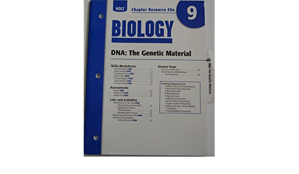Counting Number worksheets fun chemistry worksheets : Holt Biology: DNA- The Genetic Material- Chapter Resource, No. 9 ...