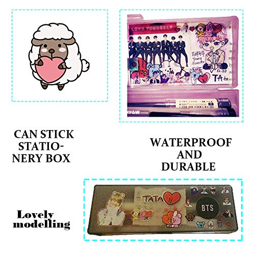 BTS Stickers and Facial Decals Paper Doll Sticker Pack Set for Phone Car Pad Laptop Water Bottles,Bangtan Boys Gift Set for Army by KPOPBTS (Image #5)