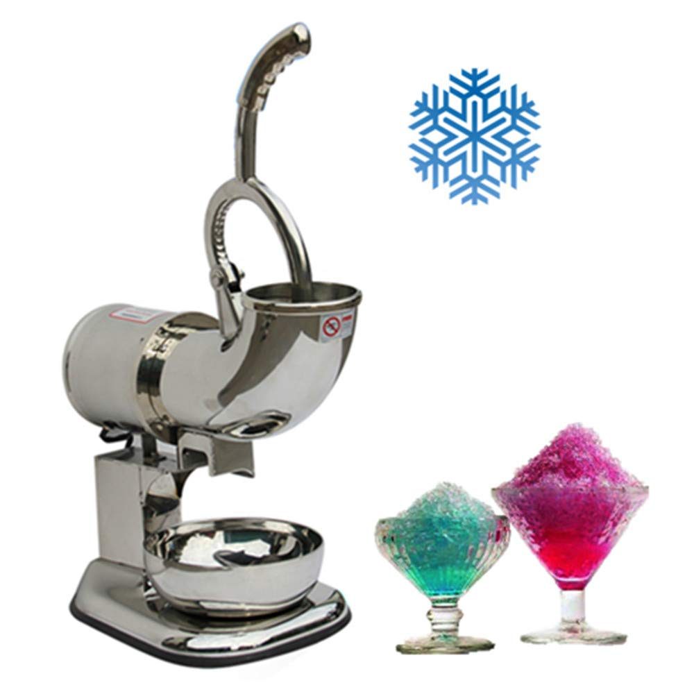 Commercial Ice Shaver Heavy Duty, Industrial Duty Ice Shaver Machine Dual Stainless Steel Blade Electric Shaved Ice Machine Countertop Snow Cone Maker,3-7 Days Delivery