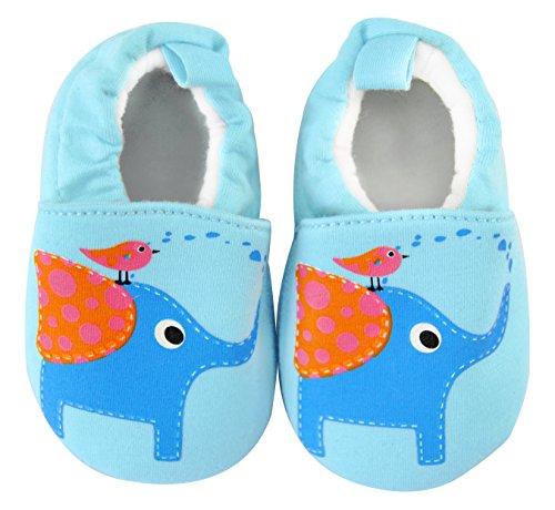axy - Patucos de tela para niño Azul azul