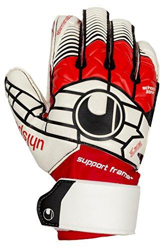 - uhlsport Soccer Goalie Gloves Eliminator Soft SUPPORTFRAME + Finger & Thumb Protection Goalkeeper