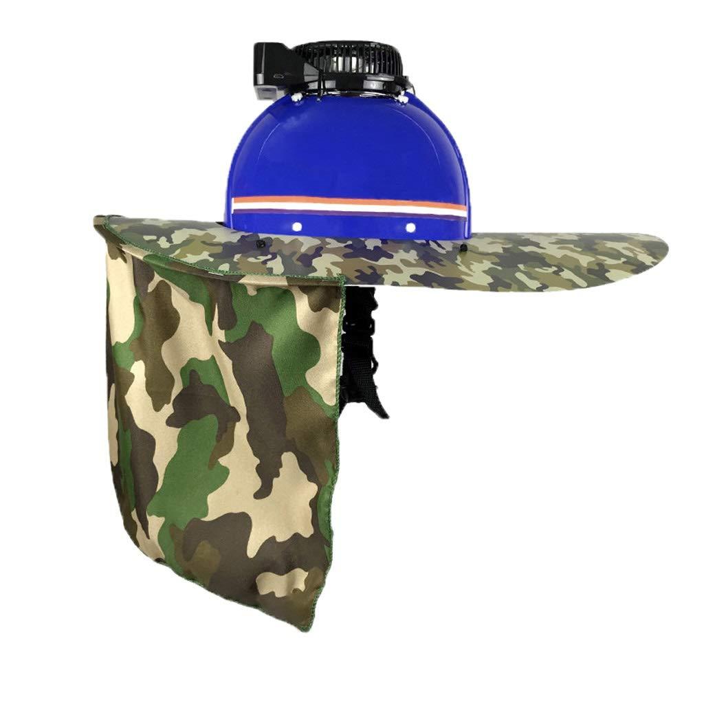 AQMJH Hard Hat Visor Lightweight Breathable Outdoor Construction Sun Visor Camouflage Shawl Sunscreen Set Summer, PE Material