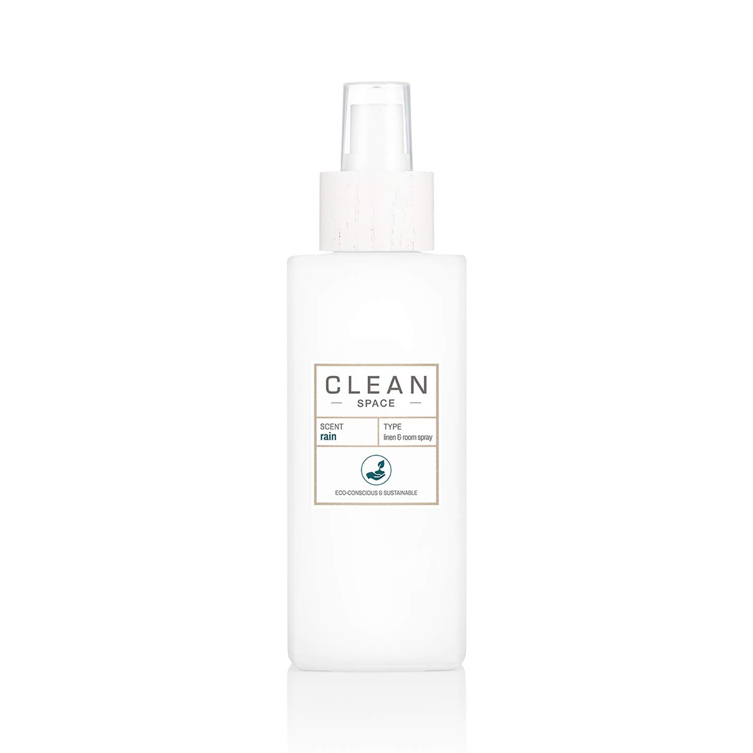 CLEAN SPACE Linen & Room Spray | Aromatic Mist in Reusable Glass Vase | Gentle Vegan Formula | Perfect Freshener for Fabrics or Air | 5.0 oz/148 mL