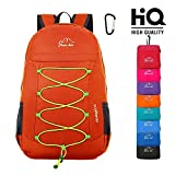 Lightweight Packable Hiking Backpack Foldable Water Resistant Durable Travel Daypack 25L Orange