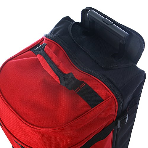 Olympia Sports Plus Drop Bottom Rolling Duffel Bag in Black by Olympia (Image #1)