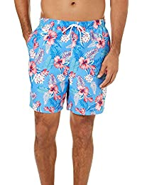 Mens Hawaiian Floral Swim Trunks