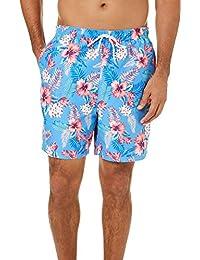Mens Hawaiian Floral Swim Trunks