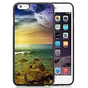 NEW Unique Custom Designed iPhone 6 Plus 5.5 Inch Phone Case With Stormy Sea Rocks Sunset_Black Phone Case wangjiang maoyi