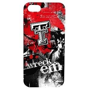 NCAA Texas Tech Red Raiders Paulson Designs Spirit Case for iPhone 5/5s, Black, Medium