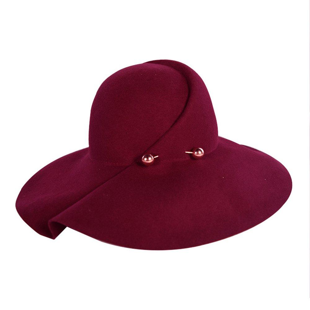 Shuo lan hu wai Herbst und Winter Wollfilzhut mit Einem großen Hut Metallkugel dekorativen weiblichen Hut