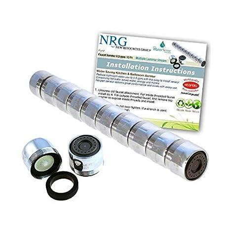 10 pc salvavidas pro-Pack Neoperl 0,5 lzm compensación de presión/flujo Laminar baño grifo aireador de múltiples   Bajo Control de flujo: Amazon.es: ...