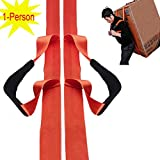 Pawaca 1- Person Lifting and Moving Straps, Easily to Carry Furniture/ Refrigerator/ Appliance/ Mattress/ Heavy Objects, with over the Shoulder Lifting Aid Belt System