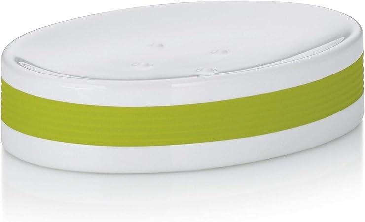 White/Lime Green Kela Soap Dish Laletta Collection Bath Home ...
