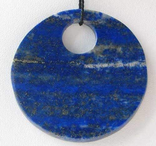 - Starry Night Natural Lapis Disc Pendant Bead for Jewelry Making 9362A