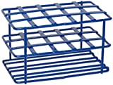 Heathrow Scientific HD23215 Steel Epoxy-Coated 15-Well Wire Racks for 15mL Tubes, Blue
