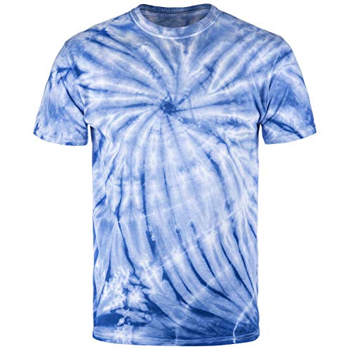 Magic River Handcrafted Tie Dye T Shirts - Royal Cyclone - Adult Medium