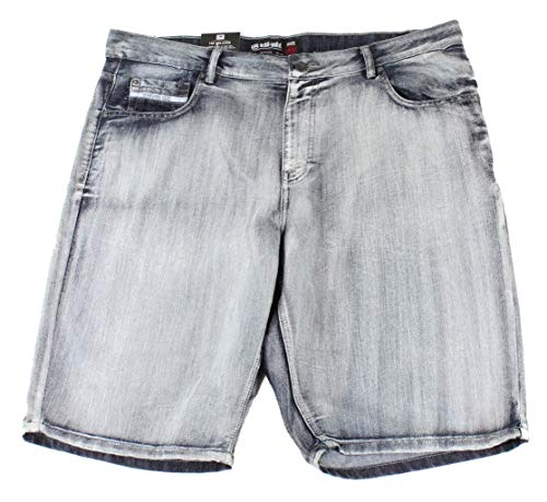 Ecko Unltd. Mens Denim Relaxed Fit Embroidered Shorts Blue 48