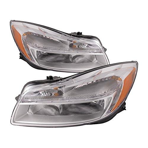 HEADLIGHTSDEPOT Compatible with Buick Regal Headlights Pair Left Driver Right Passenger Headlamps Halogen Set