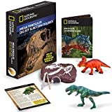 National Geographic Mega Dinosaur Dig - 2 Dino Action Figures and Real Fossil Dig