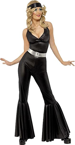 Disco Costume Adult 70s Diva Halloween Fancy Dress