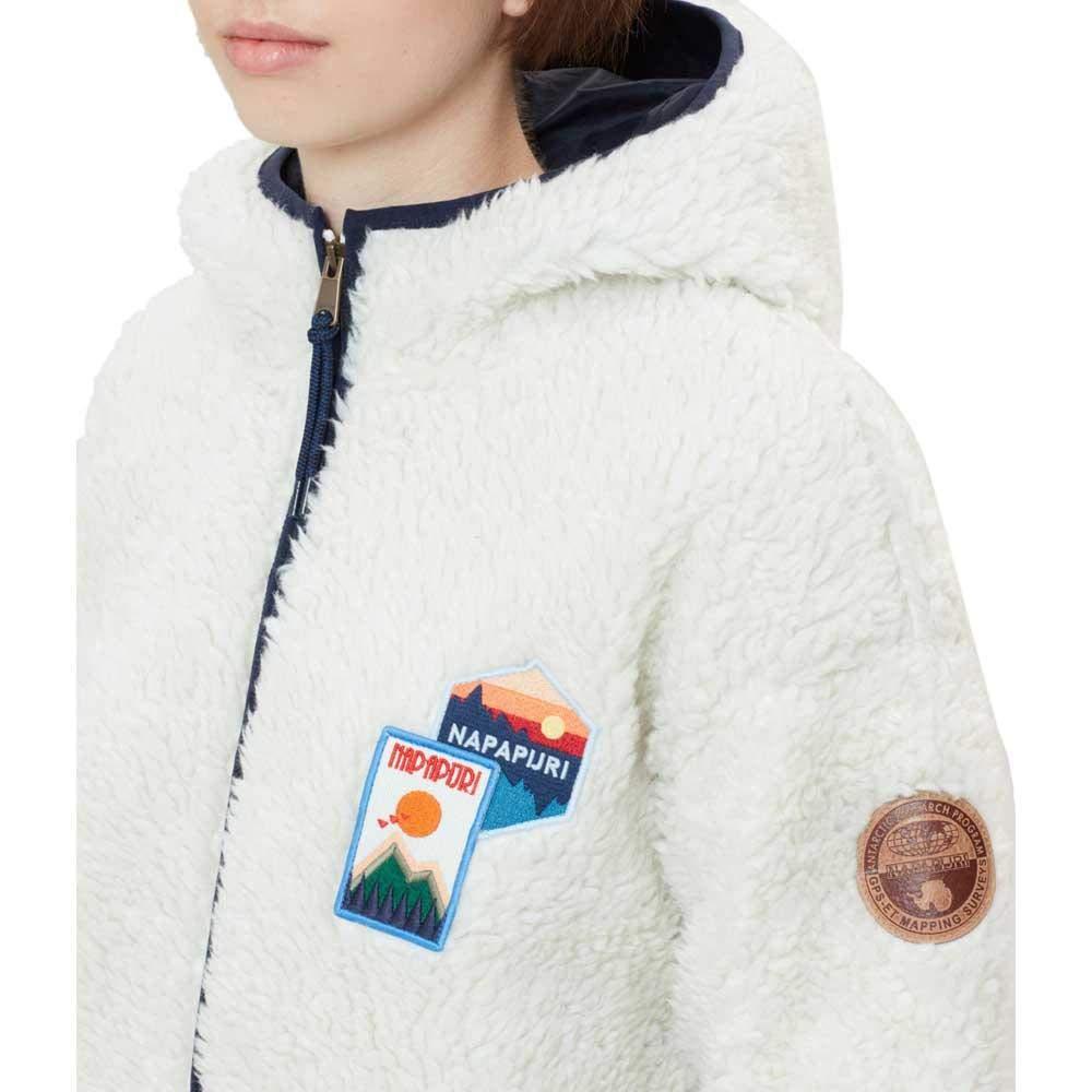 NAPAPIJRI Felpa Donna con Cappuccio e Patch Tara -New Milk-M  Amazon.it   Abbigliamento d78a0c319260
