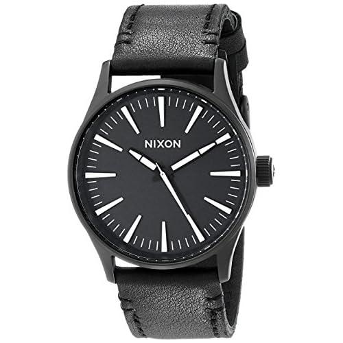 chollos oferta descuentos barato Reloj Cuarzo Nixon para Hombre con Negro Y Negro Cuero A377005