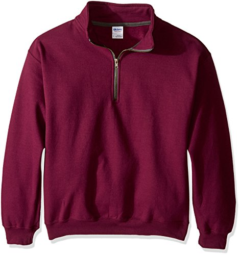 Gildan Heavy Blend Fleece  Zip Mock Neck XL, Maroon