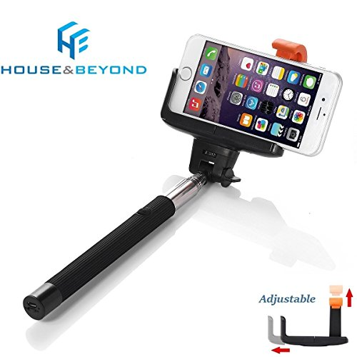 selfie stick bluetooth extendable monopod with built in remote universal telescoping cell. Black Bedroom Furniture Sets. Home Design Ideas