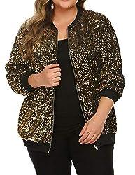 Plus Size Sparkle Long Sleeve Jacket