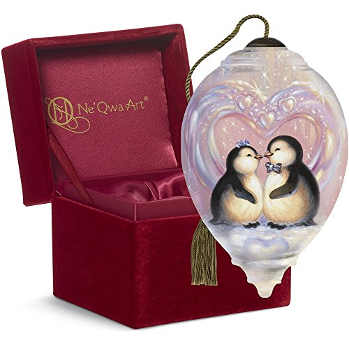 Ne'Qwa Art, Penquin Christmas ornament, (comes with beautiful gift box)