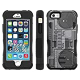 iPhone SE   5   5S Phone Cover, Boom Box- Flak Jacket Dual Armor with Kick-stand for [iPhone SE   5   5S] with [Kickstand and Holster]