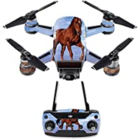 Skin for DJI Spark Mini Drone Combo - Horse| MightySkins Protective, Durable, and Unique Vinyl Decal wrap cover | Easy To Apply, Remove, and Change Styles | Made in the USA
