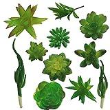 Vivifying Mini Artificial Succulent Plants, Set of 11 Assorted Artificial Succulents Unpotted for Home, Office