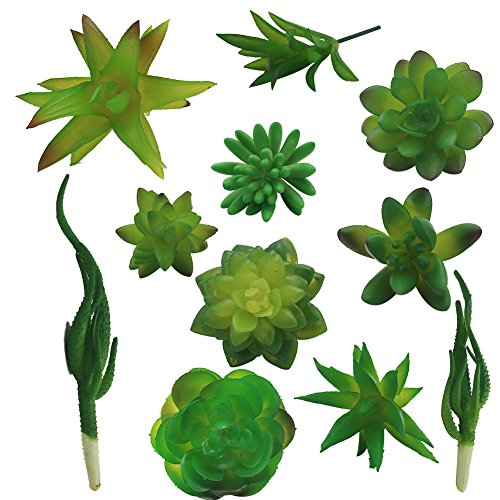 Vivifying Mini Artificial Succulent Plants, Set of 11 Assorted Artificial Succulents Unpotted for Home, Office by Vivifying