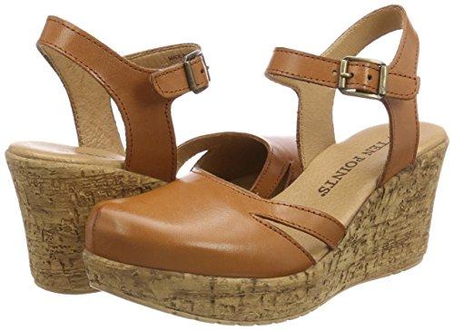 cognac 319 Ten Platform Brown Sandals Julia Women''s Points UqxUTz4