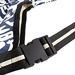 Amzdeal Portable Pet Cross-body Bag, Pet Carrier, Oxford Cloth, Dark Blue Letter Pattern (Small)
