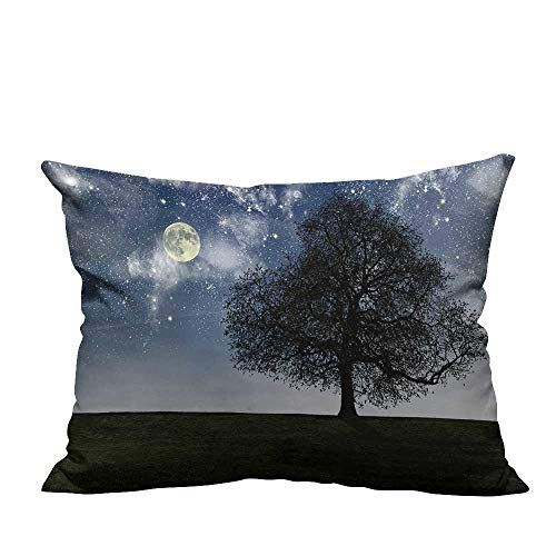 (YouXianHome Sofa Waist Cushion Cover Night Tree,Halloween Night Decorative for Kids Adults(Double-Sided Printing) 12x16)