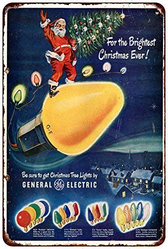 qidushop GE Christmas Lights - Cartel Decorativo de Metal ...